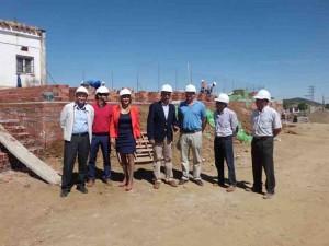 El recinto ferial estará construido para agosto.