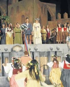 Uno de los momentos de la actuación en Fuente Obejuna.
