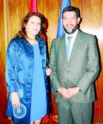 Carmen Crespo y Alberto Nadal, tras la reunión. Foto:CORDOBA