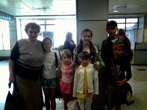 Niños bielorrusos acogidos en la comarca del Guadiato