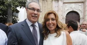 Durán y Susana Díaz, en el Parlamento andaluz. Foto:A.J. GONZALEZ