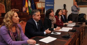 Acto de firma del convenio en Diputación.  DIPUTACIÓN PROVINCIAL