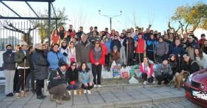 Algunos de los participantes, en el parque Cruz de Piedra.