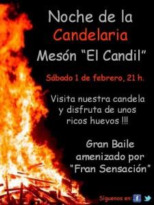 """Disfruta de la Candelaria en el Mesón Rural """"El Candil"""""""
