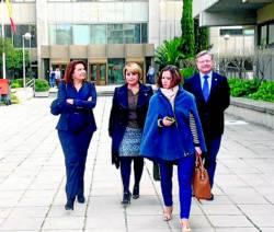Los delegados del Gobierno y las alcaldesas, ayer en Madrid. Foto:CORDOBA