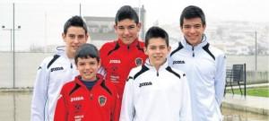 Deportistas de Fuente Obejuna que están destacando en varias modalidades deportivas. - EVA MARÍA HERAS