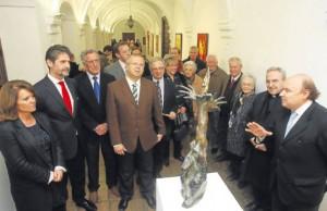 Inauguración de la exposición de Aurelio Teno en las Galerías del Cardenal Salazar. - SÁNCHEZ MORENO