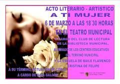 Cartel del Acto Literario - Artístico