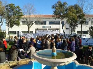 Manifestación de padres de alumnos