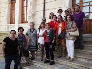 Matilde Cabello con el Club de Lectura de Fuente Obejuna