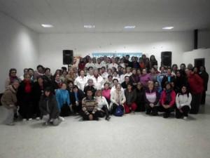 Gimnasia, ciento veinte mujeres de diferentes edades