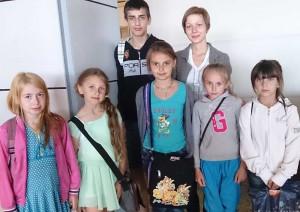 Bielorrusos acogidos por familias mellarienses