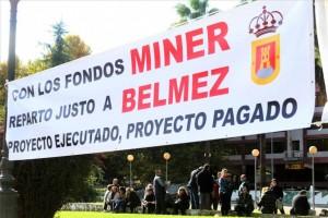 Foto de archivo de las protestas de Belmez para reclamar la deuda del Miner. - Foto:A.J. GONZALEZ