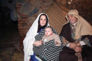 María y José con Jesús recien nacido