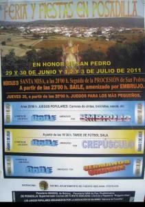 Cartel Feria y fiestas de Posadilla 2011
