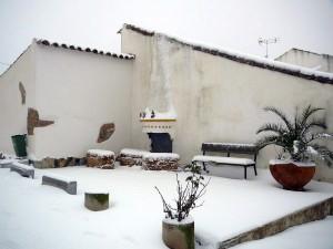 Nieve en las aldeas de Fuenteobejuna