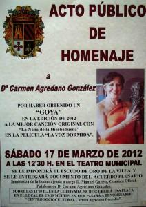 Homenaje a Carmen Agredano