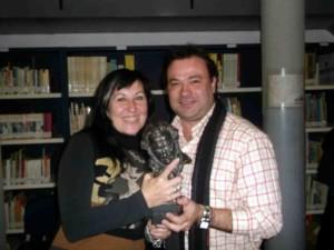 Carmen Agredano junto al redactor de Infoguadiato
