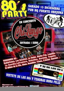"Fiesta de los 80 ´S Party en Pub ""HQ"""