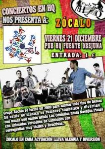 """Concierto del grupo """"Zócalo"""" en Pub """"HQ"""""""