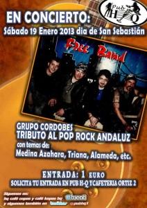 """Free Band en concierto en Pub """"HQ"""""""