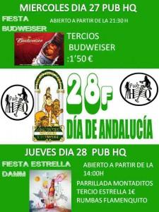 """Vive el Día de Andalucía en Pub """"HQ"""""""
