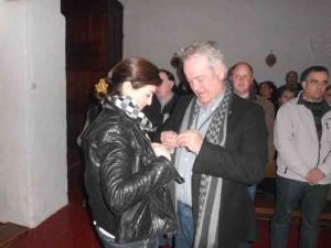 Francisco Pulgarín entrega la insignia de oro