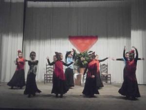 Alumnas de la academia de Baile Flamenco