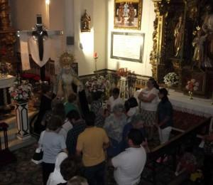 Celebración de dos triduos en la Iglesia de San Francisco
