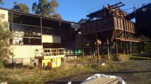 Demolición del lavadero de Encasur en El Porvenir