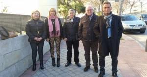 Los regidores de Hornachuelos, Fuente Obejuna, Las Navas de la Concepción y Alanís, ayer, en Madrid. - Foto:CORDOBA