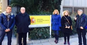 Cecilio Fuentes, José E. Rodríguez, Isabel Cabezas, Carmen Murillo y Francisco López, ayer en Madrid. - Foto:CORDOBA