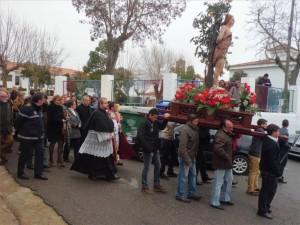 Un momento de la procesión del patrón, San Sebastián. - EVA M. HERAS