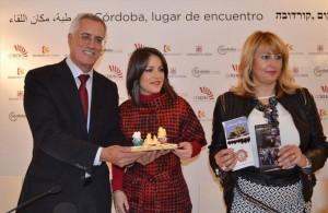 Soriano , entre el alcalde de Pozoblanco y la alcaldesa de Fuente Obejuna. - CÓRDOBA