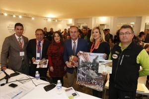 Autoridades del Alto Guadalquivir presentan su oferta turística ayer en Fitur. - Foto:A.J.GONZALEZ