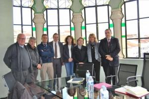 Alcaldes y representantes políticos de F. Obejuna, Hornachuelos, Alanís, Las Navas y de AMAC. - Foto:EVA M. HERAS