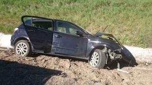 Accidente de tráfico en la N-432 en el término de Fuente Obejuna