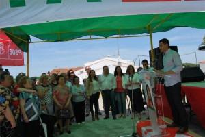 La consejera da su apoyo a la candidata socialista de Fuente Obejuna. Silvia Mellado aboga por la modernización del sector agroganadero
