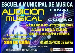 Concierto de fin de curso y audición musical de la Escuela Municipal de Música