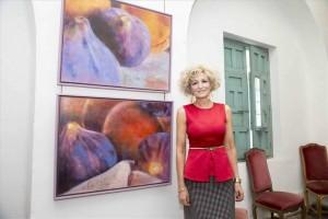 Ana Ortiz, en su exposición. - Foto:MANUEL MURILLO