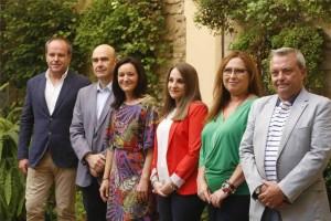 De izquierda a derecha, Algar, Carmona, Crespín, Ruiz, Luna y Alcaide posan en San Felipe. - A.J. GONZÁLEZ