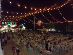 Ambiente El recinto feria tiene este año nueva iluminación. - Foto:EVA M. HERAS
