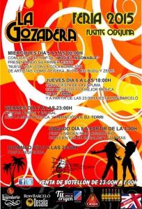 `La Gozadera`. Feria 2015 de Fuente Obejuna