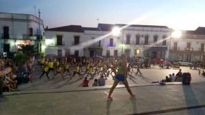 Concentración de aeróbic en la plaza `Lope de Vega`