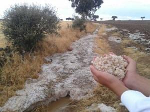 Granizada en el cerro de la Calaveruela