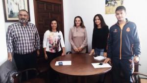 Visita de la Delegada de Consumo y Participación Ciudadana