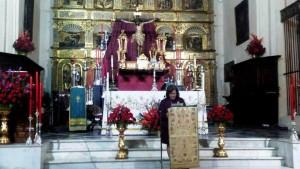 Pilar Paños exalta a la imagen del Stmo. Cristo de la Misericordia