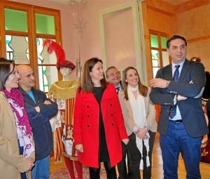 El consejero visitó el Palacete Modernista. - Foto:EVA M. HERAS