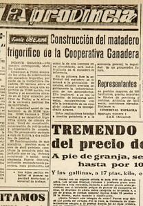 Construcción del matadero frigorífico de Fuente Obejuna -