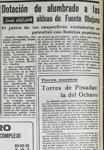 El alumbrado público llega a las aldeas de Fuente Obejuna -